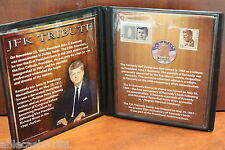JFK Tribute 1/2 Dollar & Commemorative Stamps 2012 First Commemorative Mint Inc
