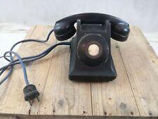 Téléphone Ericsson Colombes ancien bakélite/chambre d'hôtel/années 40-50