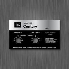 JBL L100 CENTURY STICKER LABEL