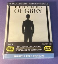 Fifty Shades of Grey Unrated Edition [ Limited STEELBOOK ] (Blu-ray + DVD) NEW