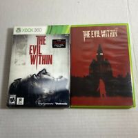 Evil Within Microsoft Xbox 360 Reflective Sleeve Complete Video Game Free Ship