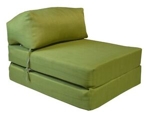 1GILDA ® LIME Fold Out Futon Single Guest Z Bed Chair Folding Mattress Sofa Bed