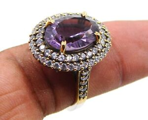 925 Sterling Silver 5 Pcs Hydro Multy Cut Two Tone Rings Loose Gemstones M-498