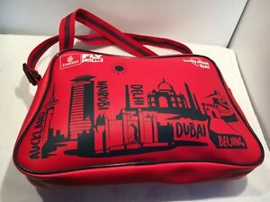 EMIRATES Fly With Me Lonely Planet Kids Airline Retro RED Bag Crossbody Satchel