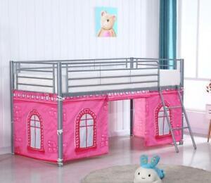 Pink Castle Design Curtain Set for Midsleeper Cabin Bunk Bed Tent - New
