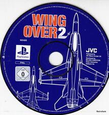 WING OVER 2 (ps1) Unique CD, signes d'usure minimale