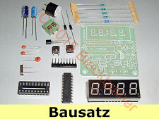 1 Bausatz LED Alarm Quartz Digital Uhr Clock Kit- 89C2051, 3,7-5,5V,54x51mm DIY