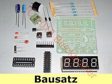 1 Bausatz LED Alarm Quartz Digital Uhr Clock Kit- 89C2051, 3,7-5,5V,54x51mm DIY