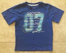 ☀️ Gap Kids Boys Blue Soccer Tee Shirt Top 100% Cotton Short Sleeve S 6-7 MINT