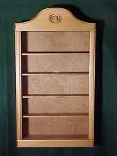WALL CURIO CABINET  SHADOW BOX  DISPLAY CASE LIGHT OAK FINISH COLLECTIBLES SHELF