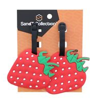 Luggage Tags Silicone Strawberry Kids Travel Tags Duffel Suitcase 2 Travel Tags
