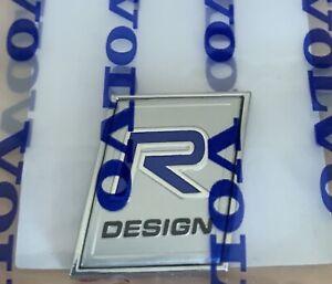 Volvo R DESIGN Curved Design Badge 3D Metal Emblem
