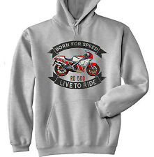 YAHAMA RD 500 - GREY HOODIE - ALL SIZES IN STOCK