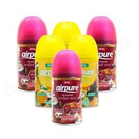 6 X AIRPURE AUTOMATIC AUTOMATIC SPRAY REFILL 250ML  CITRUS & MULLED WINE