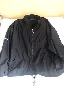 Ping Mens 3X Black Windbreaker Jacket