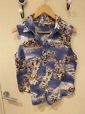 Original Hilo Hattie Hawaiian Womens Short Sleeve Shirt Island Print Small / Med