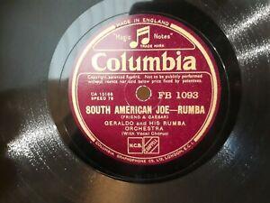 Geraldo South American Joe 10 Inch 78 Record Can Do International Post