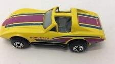 RARE VINTAGE MATCHBOX CHEVROLET CORVETTE 1979 70s  LINE RED BLACKWALL HOT 1 79