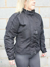 New Ladies Motorcycle Cordura Jacket Waterproof CE Armour Textile Jacket BLK all