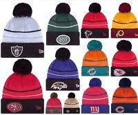 New Era NFL Reflective Sport Knit On Field Sideline Winter Beanie Fleece Hat Cap