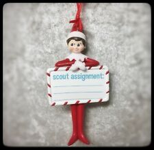 DEPT 56 ELF ON THE SHELF SCOUT ASSIGNMENT  ORNAMENT # 405678