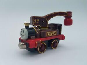 Thomas & Friends Take Along N Play 2003 Harvey Train Engine Crane #27 Maroon Red