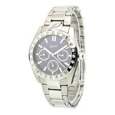 Relojes de pulsera de plata de acero inoxidable para mujer