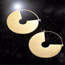 Matte Gold color Big Circle Dangle Earrings  Drop Earrings