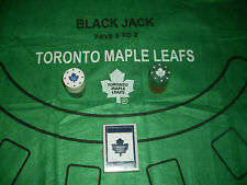 TORONTO MAPLE LEAFS BLACK JACK FELT CLOTH, CARDS & POKER CHIPS *NEW*