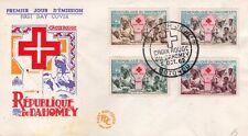 RÉPUBLIQUE DU DAHOMEY - CROIX ROUGE - CROCE ROSSA - RARA BUSTA FILATELICA - 1962
