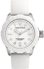 Orologio Nautica A09603G bianco moda giovane cassa acciaio silicone NSR 100 sub