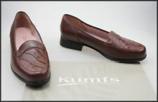 Block Heel Leather Wide (C, D, W) Solid Heels for Women
