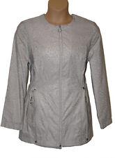 BNWT size 18 Klass Ladies Lightweight Parka Coat in Animal Print Silver Grey