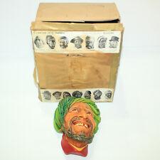 Gorgeous Bossons Vtg Chalkware Head Congleton England- Kurd #41 w Original Box
