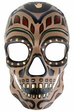 Sugar Skull Brown Day of the Dead Men's Mask Genuine Dr Toms - New