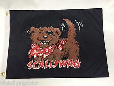 "BOAT FLAG SCALLYWAG 12X18"" NEW NAUTICAL BARK-A-NEER PIRATE DOG FLAG DOUBLE SIDED"