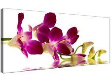 Purple Large Canvas Art of Orchids Flowers  - 120cm x 50cm - 1021