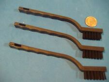 LOT OF THREE NYLON DETAIL BRUSHES PARTS CLEANING  PLASTIC HANDLE
