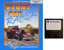 """STUNT CAR RACER : floppy disc 3,5"""" Commodore Amiga backup game disk (READ)"""