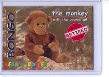 Ty S1 Red Retired *Bongo The Monkey * Beanie Card Only Rare Insert 4067