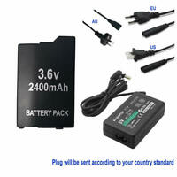 2400mAH BATTERY + WALL Charger adapter FOR SONY PSP 3000 3001 3003 3004 lite new