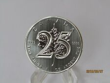 2013 1 oz Canada Silver Maple Leaf 25th Anniversary In Airtite