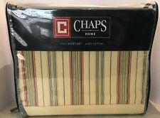 Chaps Rosemont 4 Piece Stripe Full Sheet Set Nip 1st Quality