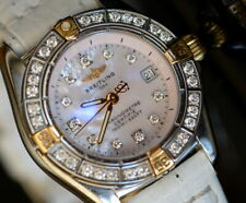 Breitling Ladies Callistino steel MOP gold with full diamonds watch wristwatch