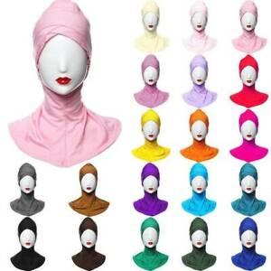 Muslim Women Neck Cover Head Scarf Inner Hijab Hat Islamic Cap Scarf Underscarf.