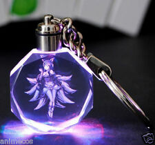 LOL League of Legends Ahri Multicolor LED Crystal Keychain Keyring Pendant New