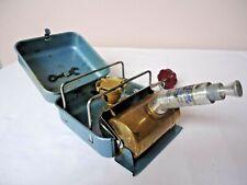 Vintage Optimus 8R gasoline backpacker camp stove with Optimus mini pump nice
