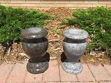 4in x 10in Cemetery Granite Vases - All Colors