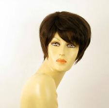 Perruque femme 100% cheveux naturel châtain ref ROXANE 6