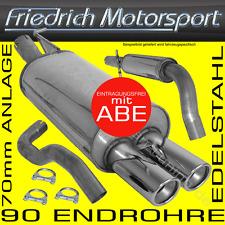 FRIEDRICH MOTORSPORT 70mm EDELSTAHL AUSPUFFANLAGE AUSPUFF VW JETTA